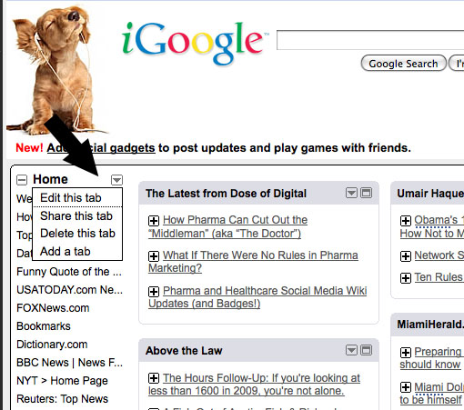 Make Your Own Twitter Dashboard With iGoogle.