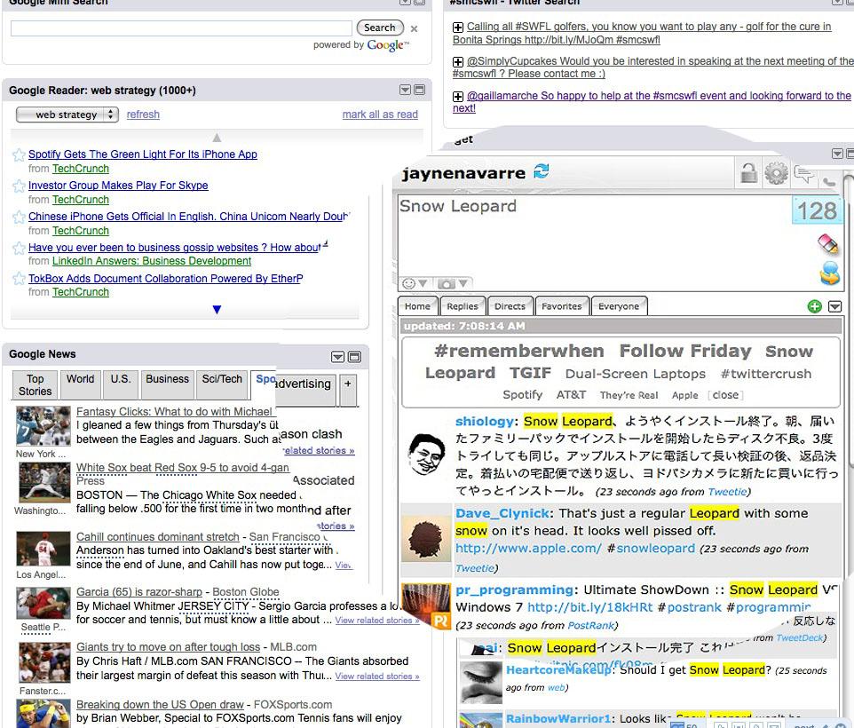 twittergadget search