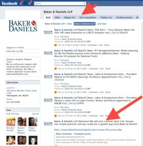 Fear of Facebook Part III : Fan Pages for Law Firms?