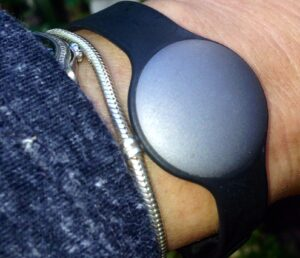 Misfit Shine Activity Tracker on VMO wrist