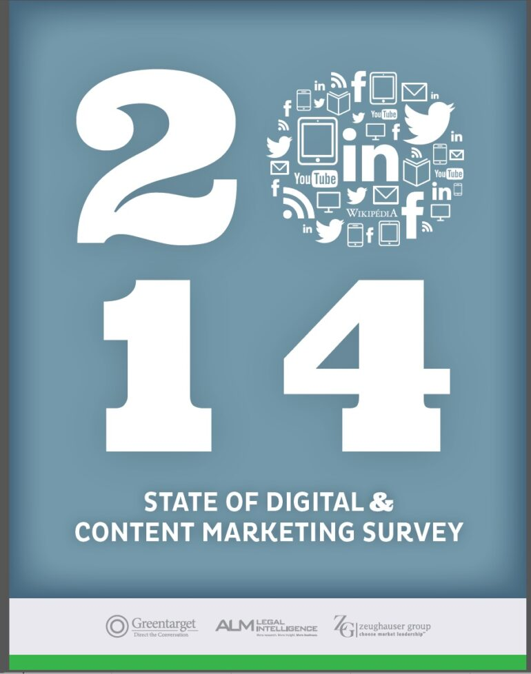 Green Target 2014 Survey of Digital Content Marketing in Law Firms
